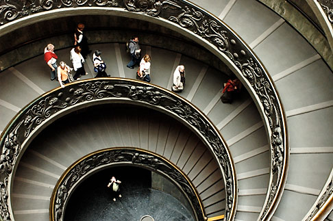 image S4-504-5907 Vatican City, Spiral Staircase, Vatican Museum