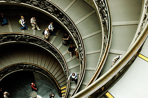 image S4-504-5911 Vatican City, Spiral Staircase, Vatican Museum