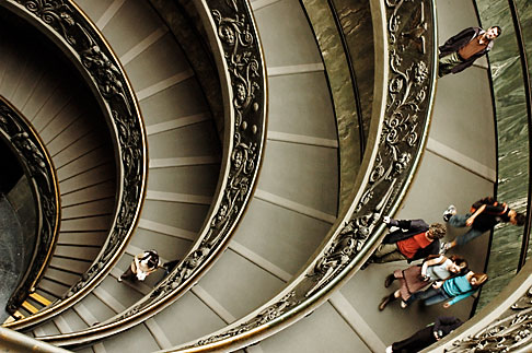image S4-504-5913 Vatican City, Spiral Staircase, Vatican Museum