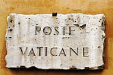 sign stock photography | Vatican City, Poste Vaticane, image id S4-504-6061