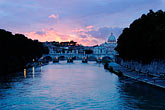 st peters church stock photography | Italy, Rome, Sunset over the Tiber, image id S4-504-6102
