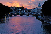 st peters basilica stock photography | Italy, Rome, Sunset over the Tiber, image id S4-504-6112