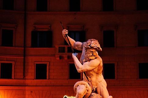 image S4-504-6150 Italy, Rome, Detail, Fontana del Moro by Bernini, Piazza Navona