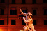 landmark stock photography | Italy, Rome, Detail, Fontana del Moro by Bernini, Piazza Navona, image id S4-504-6150