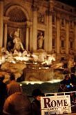 water stock photography | Italy, Rome, Guide Book, Trevi Fountain, image id S4-504-6187