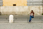 people stock photography | Italy, Rome, Piazza Del Popolo, image id S4-505-6286