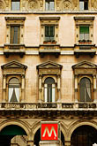 window stock photography | italy, Milan, Building and Metro, image id S4-510-6616