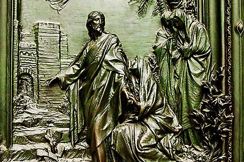 image S4-510-6625 italy, Milan, Sculpted Door, Duomo