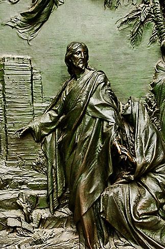 image S4-510-6626 italy, Milan, Sculpted Door, Duomo