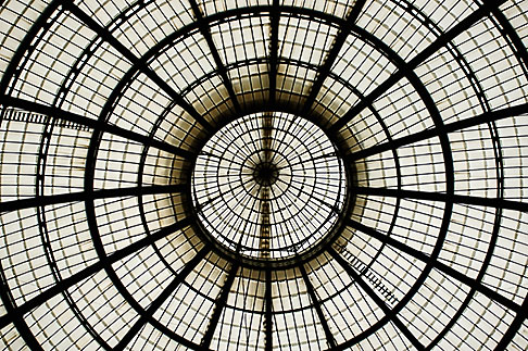 image S4-510-6712 Italy, Milan, Glass cieling, Galleria Vittoria Emanuele