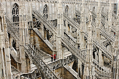image S4-511-7151 Italy, Milan, Duomo rooftop