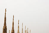 temple roof stock photography | Italy, Milan, Duomo Rooftop, image id S4-511-7152