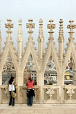 overlook stock photography | Italy, Milan, Tourists on the Rooftop of the Duomo, image id S4-511-7183