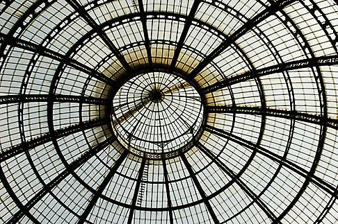 image S4-511-7230 Italy, Milan, Glass cieling, Galleria Vittoria Emanuele