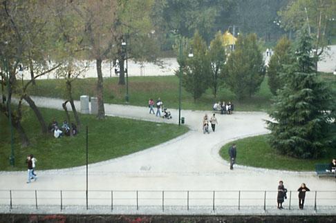 image S4-512-7451 Italy, Milan, Parco Sempione seen from Castello Sforzesco