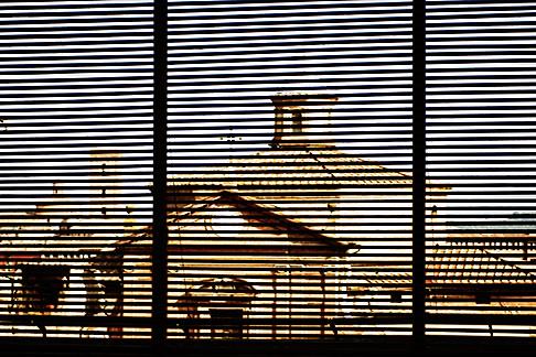 image S4-521-7937 Italy, Siena, Church through wood slates