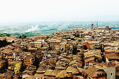 image S4-521-8072 Italy, SIena, View of town