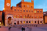 tuscan stock photography | Italy, Siena, Palazzo Publico, Il Campo, image id S4-522-8578