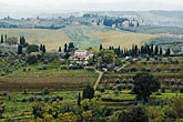 horizontal stock photography | Italy, San Gimignano, Surrounding countryside, image id S4-528-8760