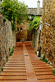 vertical stock photography | Italy, San Gimignano, Walkway, image id S4-528-8769