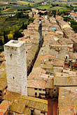 city view from tower stock photography | Italy, San Gimignano, City view from Tower, image id S4-528-8819
