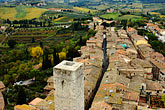 overlook stock photography | Italy, San Gimignano, City view from Tower, image id S4-528-8823