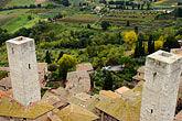 city view from tower stock photography | Italy, San Gimignano, City view from Tower, image id S4-528-8826