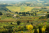 overlook stock photography | Italy, San Gimignano, Surrounding countryside, image id S4-528-8850