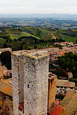farm land stock photography | Italy, San Gimignano, City view from Tower, image id S4-528-8866