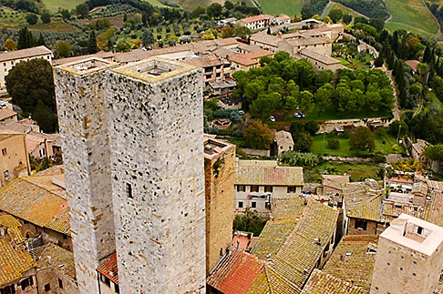 image S4-528-8868 Italy, San Gimignano, City view from Tower