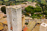 city view from tower stock photography | Italy, San Gimignano, City view from Tower, image id S4-528-8868