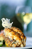 vertical stock photography | Food, Lobster Tail entree with white wine, image id 1-831-45