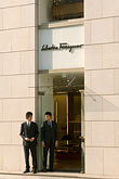 business district stock photography | Japan, Tokyo, Ferragamo shop, Ginza, image id 5-850-1909