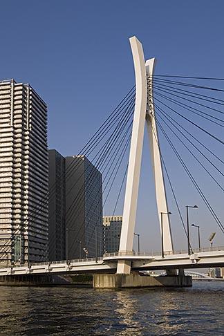image 5-850-1955 Japan, Tokyo, Sumida River, Chuo ohashi Bridge