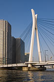 high angle view stock photography | Japan, Tokyo, Sumida River, Chuo-ohashi Bridge , image id 5-850-1955