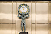 upright stock photography | Japan, Tokyo, TIffany and Company, clock statue, image id 5-850-2640