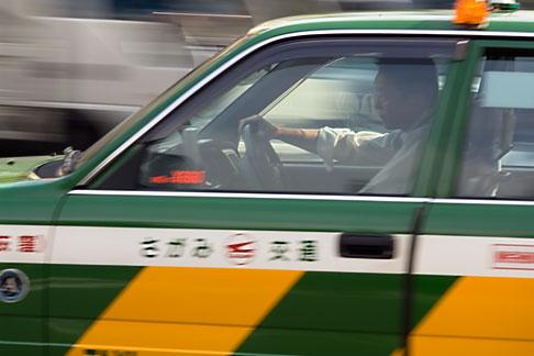 image 5-850-2696 Japan, Tokyo, Taxicab