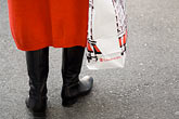 wait stock photography | Japan, Tokyo, Woman with shopping bag, image id 5-850-2726