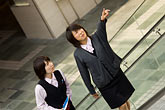 two people stock photography | Japan, Tokyo, Tour guides, image id 5-850-2754