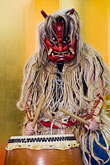 one man only stock photography | Japan, Tokyo, Namahage folk drummer, image id 5-850-2814