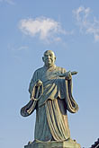 blue sky stock photography | Japan, Kyoto, Statue of monk, image id 5-855-2210