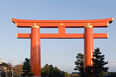 blue sky stock photography | Japan, Kyoto, Heian Shrine, Torii gate, image id 5-855-2387