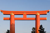 blue sky stock photography | Japan, Kyoto, Heian Shrine, Torii gate, image id 5-855-2389