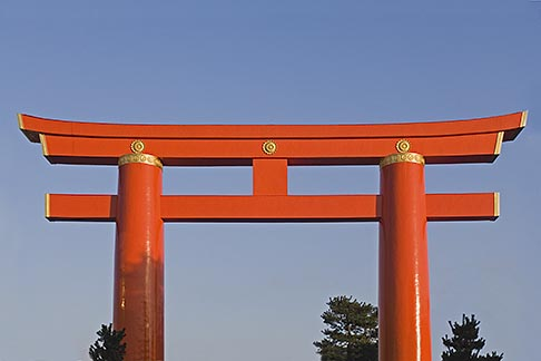 image 5-855-2391 Japan, Kyoto, Heian Shrine, Torii gate