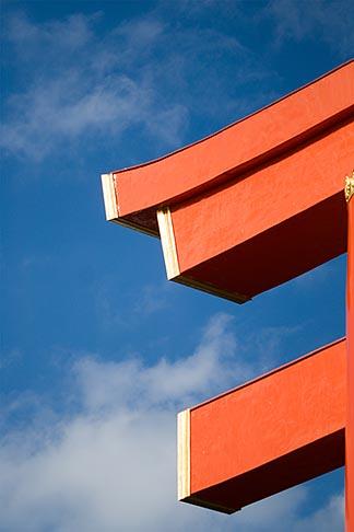 image 5-855-2571 Japan, Kyoto, Heian Shrine, Torii gate