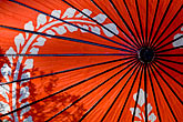 scarlet stock photography | Japan, Kyoto, Red parasol, image id 5-855-2580