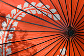 scarlet stock photography | Japan, Kyoto, Red parasol, image id 5-855-2581
