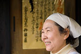 scarf stock photography | Japan, Kyoto, Woman cook in restaurant, image id 5-855-2595