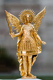 winged angel stock photography | Japan, Kyoto, Gold winged statue, image id 5-855-2622