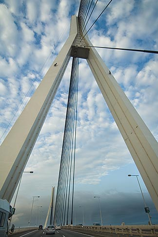 image 7-675-4097 Japan, Yokohama, Tsurumi Tsubasa Bridge, longest single plane cable stay bridge in the world